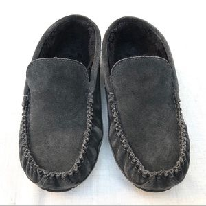 1901 mens suede leather fur lined driving slippers